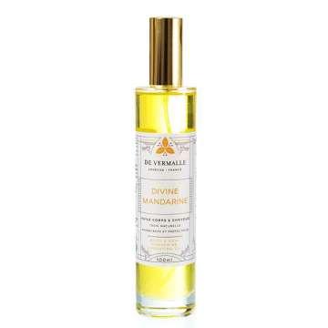 Divine Mandarine Huile hydratante parfumée Corps et Cheveu De Vermalle - 100 ml