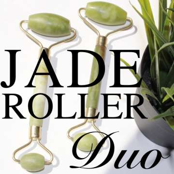 Jade Facial Roller YU LING (DUO : 2 ROLLERS) - Rouleau de Jade beaute-pure - officiel