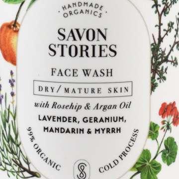 Nettoyant Visage liquide - Peau Sèche ou Mature - Argan et Myrrhe- Dry/Mature Skin Face Wash - SAVON STORIES