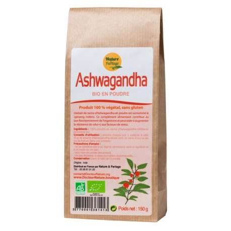 Ashwagandha poudre bio - Nature et Partage